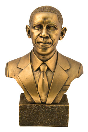 Pres Obama Bust Bronze 12H               New!