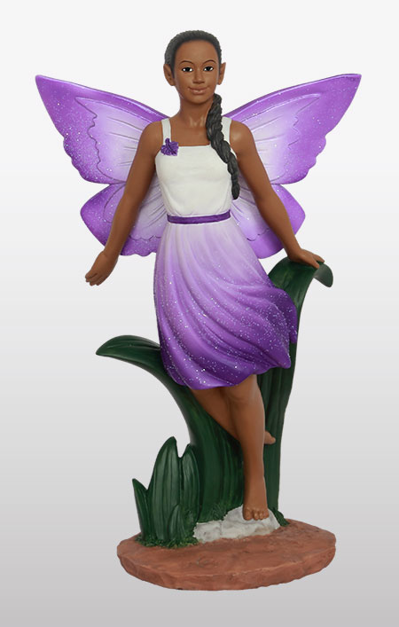 Fairy Flying in purple 9.5H                     New!